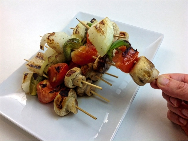 Espetinhos de Vegetais - Vegetables Skewers