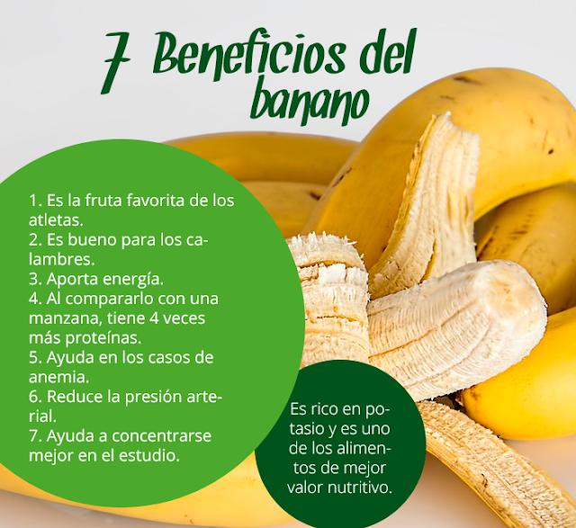 7 Beneficios Del Banano (Platano)