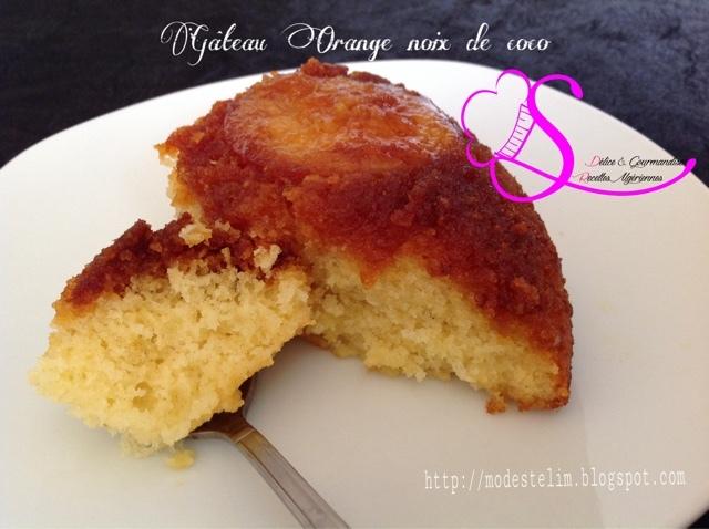 Gâteau Orange Noix de coco