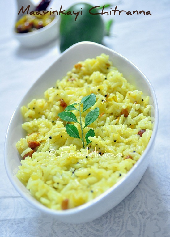 Maavinkaayi Chitranna (Raw Mango Rice)– Recipe 1, Step Wise|Karnataka Cuisine