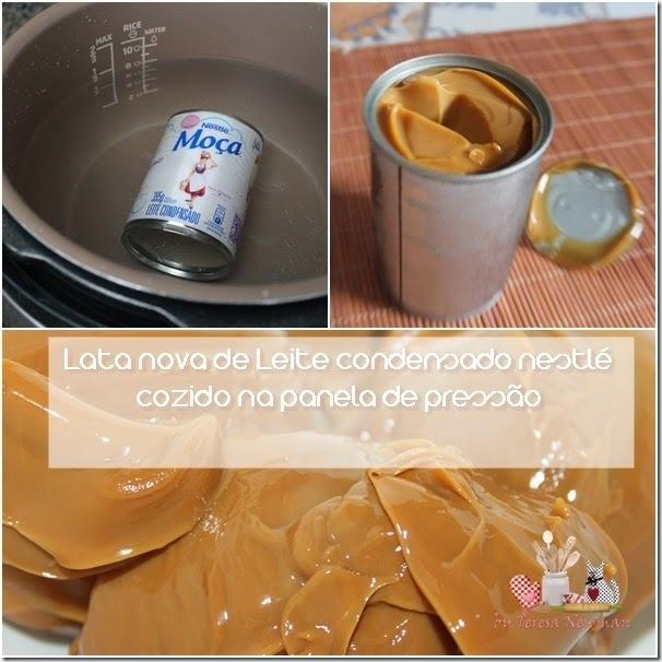 de doce de leite com leite condensado na panela de pressão
