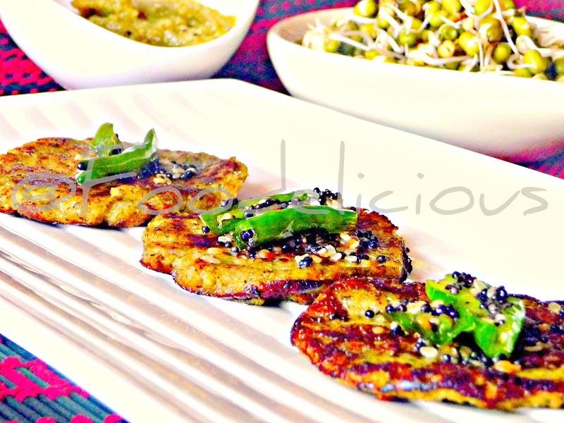 Broccoli & Sprouts Pancake Dhokla