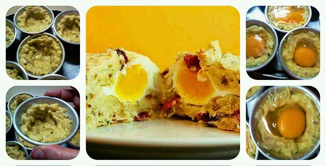 Muffins de jamon y huevo (british style)