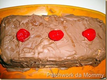 de torta alemã com bolacha maria de chocolate