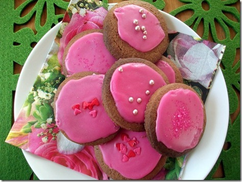 Pink Iced Biscuits