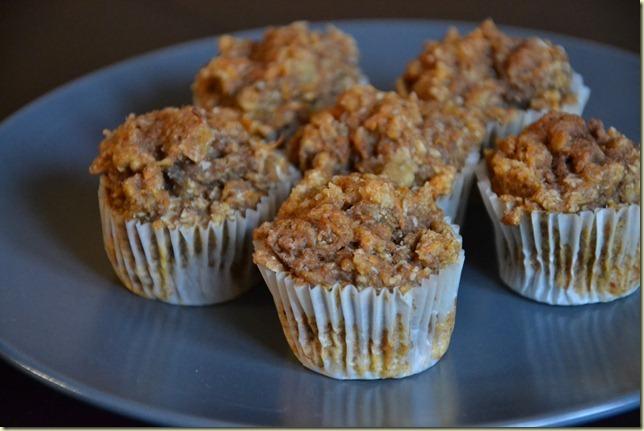 Kokosovo-mrkvovo-jablečné mini muffiny