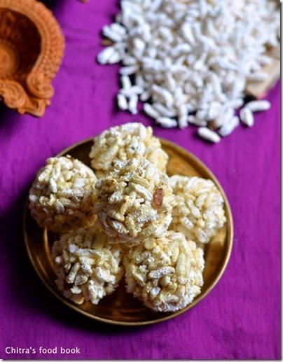 Nel Pori Urundai Recipe-Karthigai Deepam Recipes
