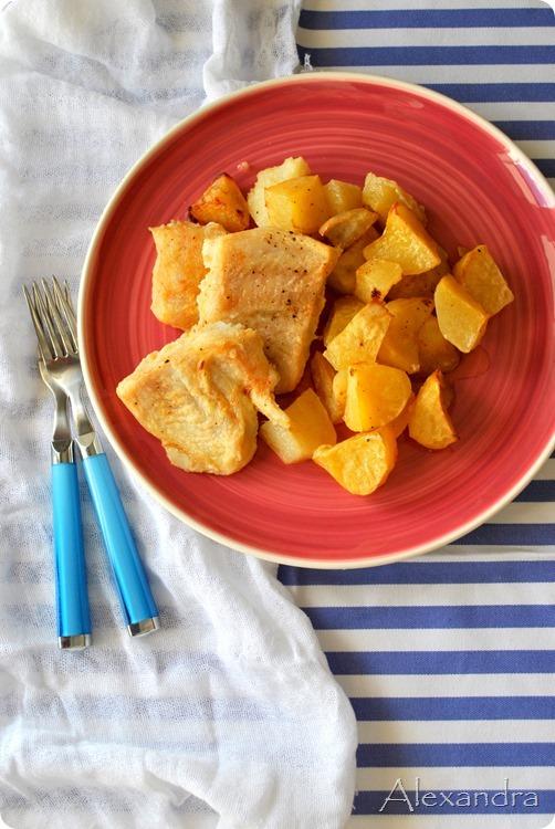 Πέρκα φιλέτο με πατάτες στο φούρνο