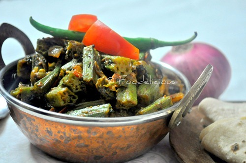 Okra-Fenugreek Leaves Dry Curry