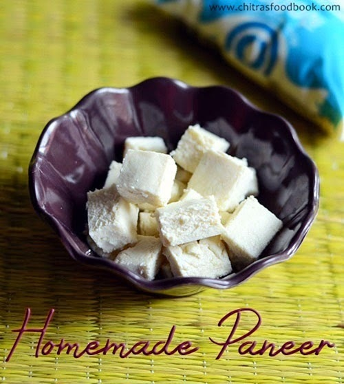 HOMEMADE PANEER RECIPE–INDIAN COOKING BASICS