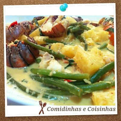Curry Vermelho com Lagosta e Abacaxi -  Curtis Stone