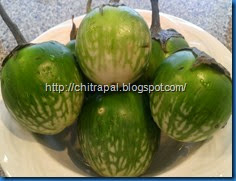 South Indian Style- Peanut Baingan/Eggplant