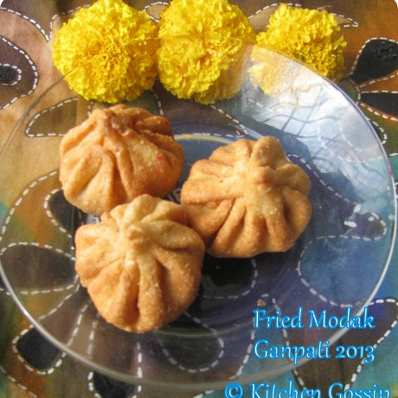Fried Modak | Fried Sweet dumpling