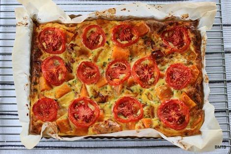 Lunchbox Bakes - Kumara and Bacon Savoury Slice