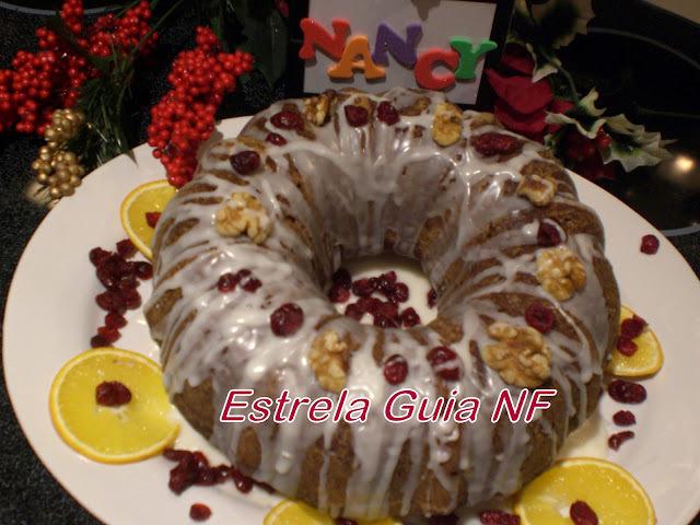 de bolo de natal com frutas cristalizadas e castanha de caju