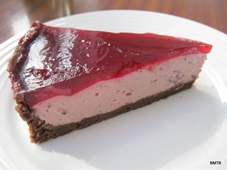 easy boysenberry cheesecake
