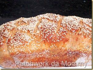 Pão com farelo de trigo e linhaça