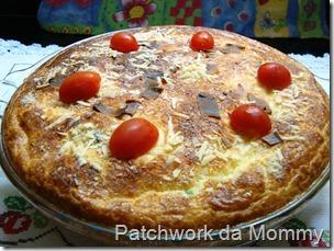 Torta de mandioquinha e legumes