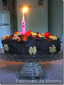 Bolo de chocolate do aniversário do Blog