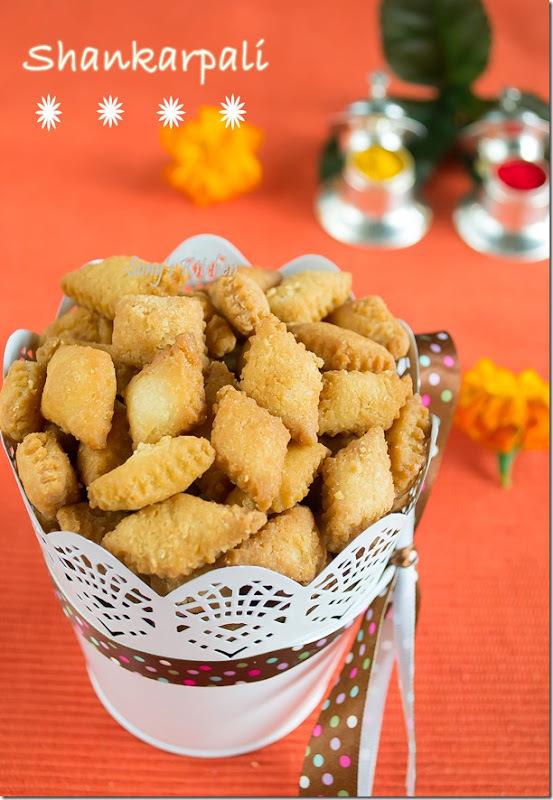 Shankarpali–Sweet diamond cuts–Sweet Maida Biscuit–Easy Diwali Recipe