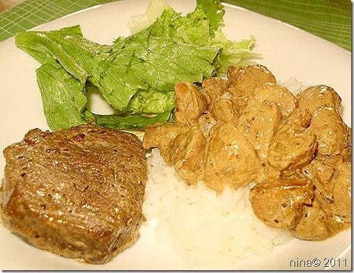 Biftek u umaku od šampinjona/Beef steak in mushroom sauce