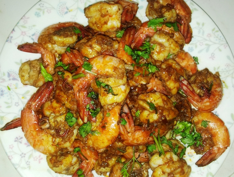 Prawns Stir Fry (Quite Successful Experiments with Prawns – Part 1)