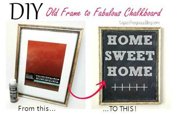 DIY Old Frame to Fabulous Chalkboard