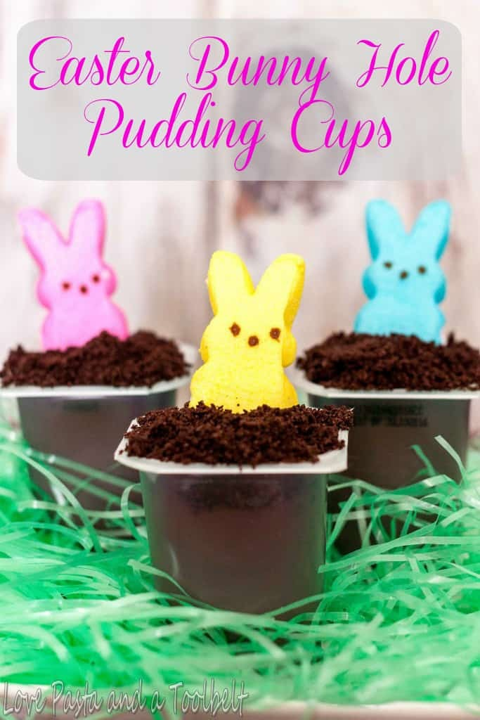 Easter Bunny Hole Pudding Cups