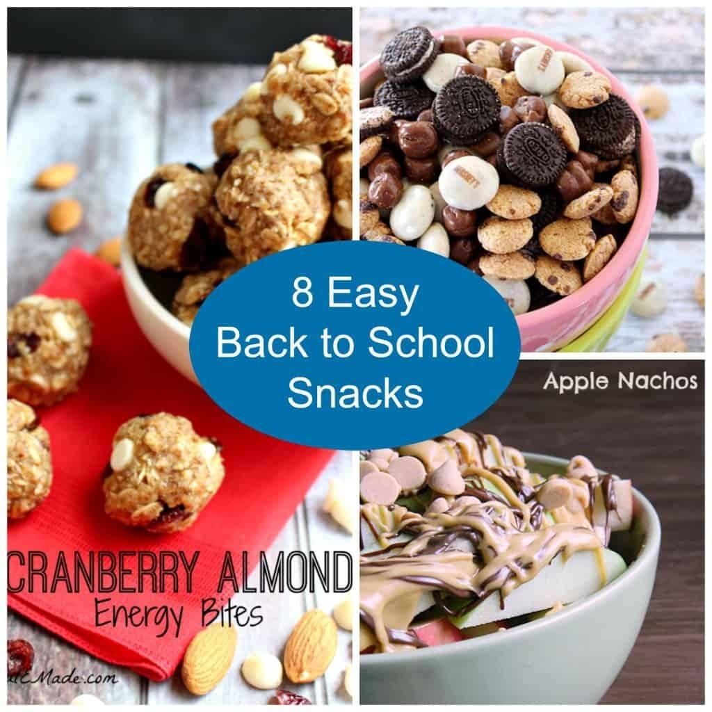8 Easy Back to School Snacks