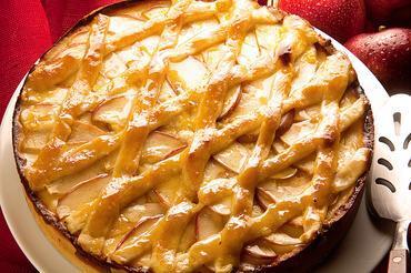 Torta de maçã com catupiry