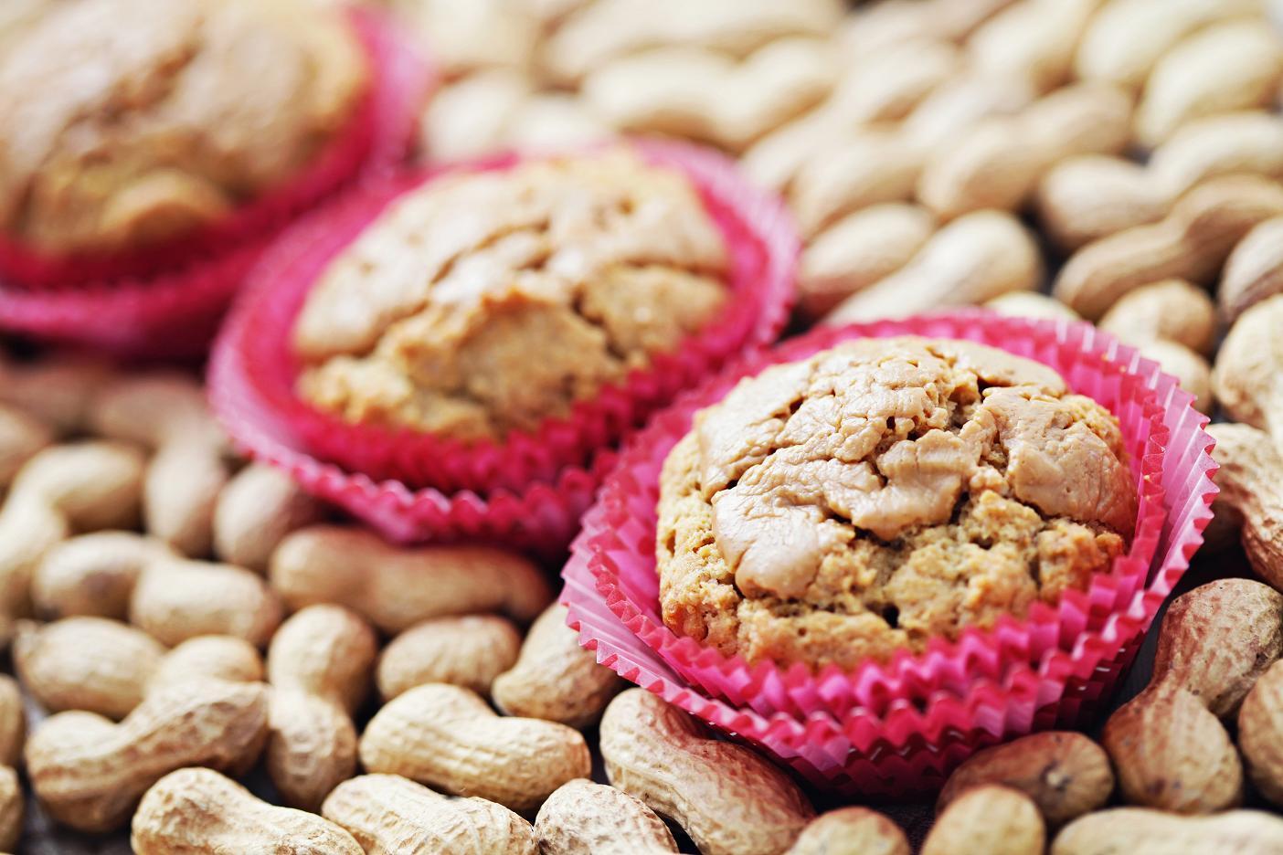 Muffin integral de amendoim