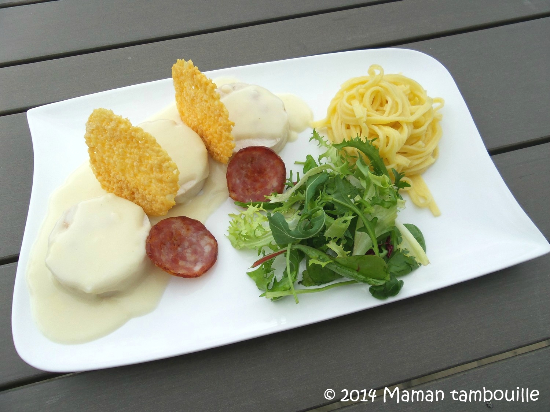 Ballotines de poulet à la franc-comtoise de Philippe Etchebest