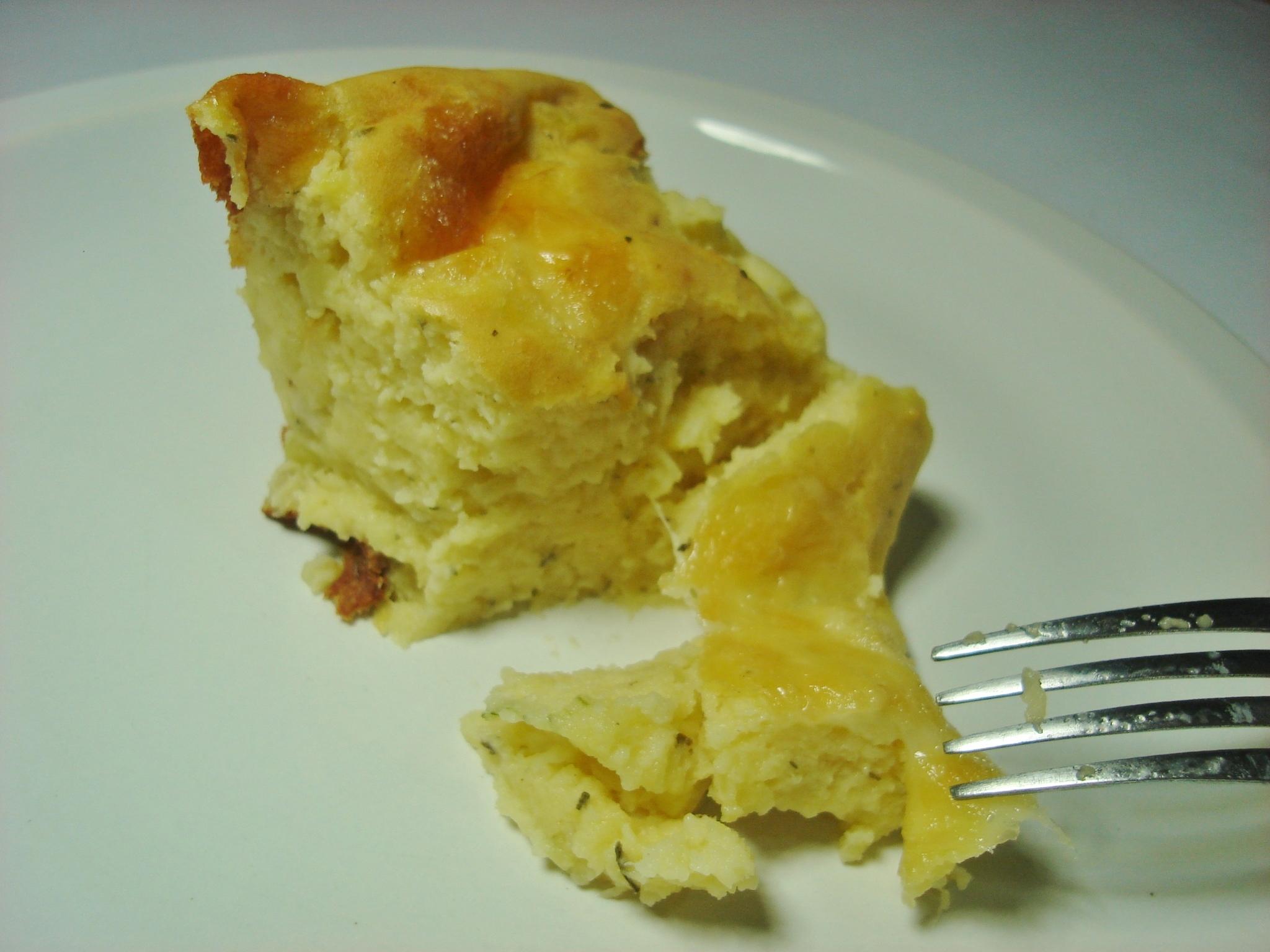 Suflê de batata com queijo