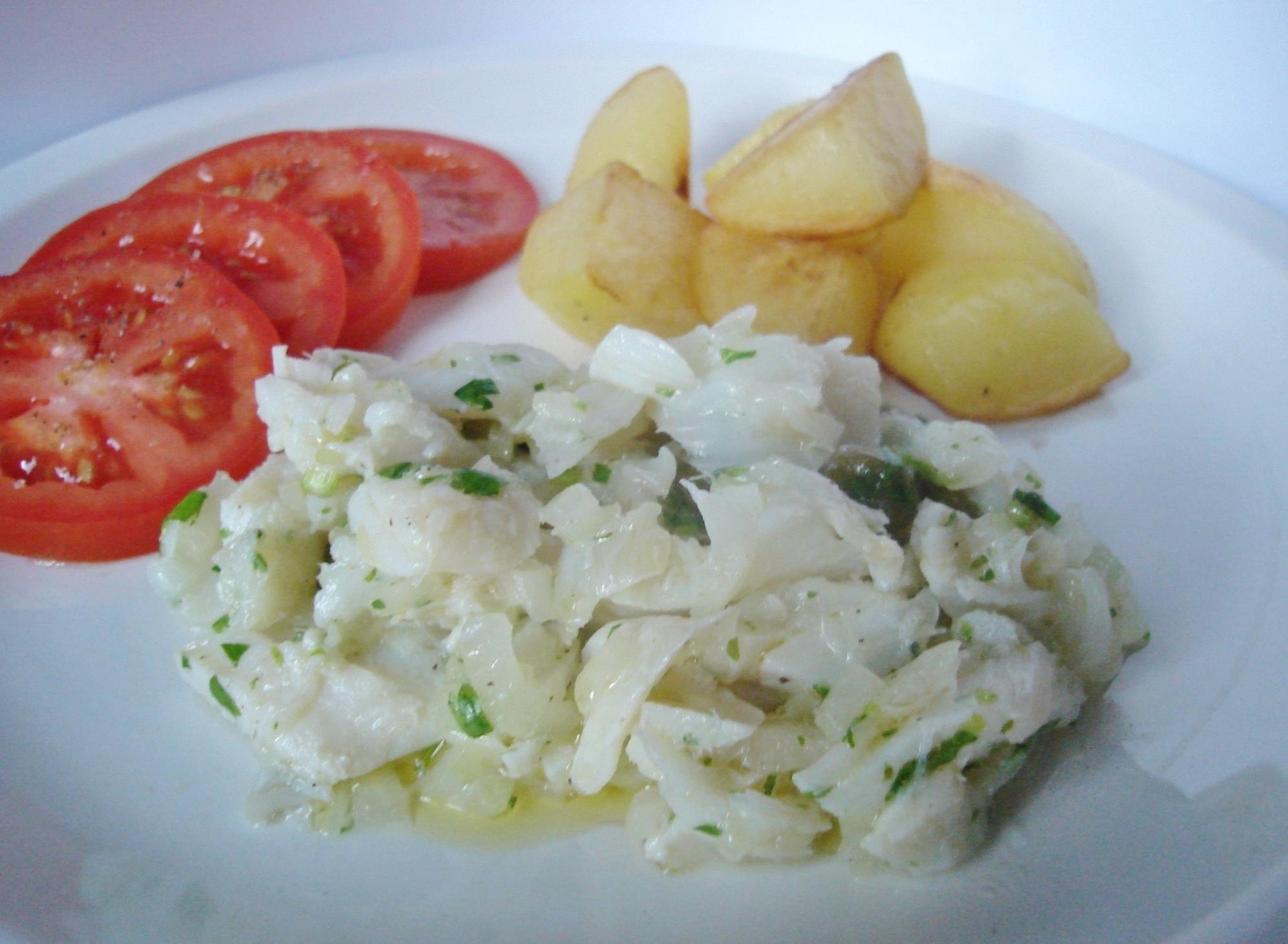 Salada fria de bacalhau
