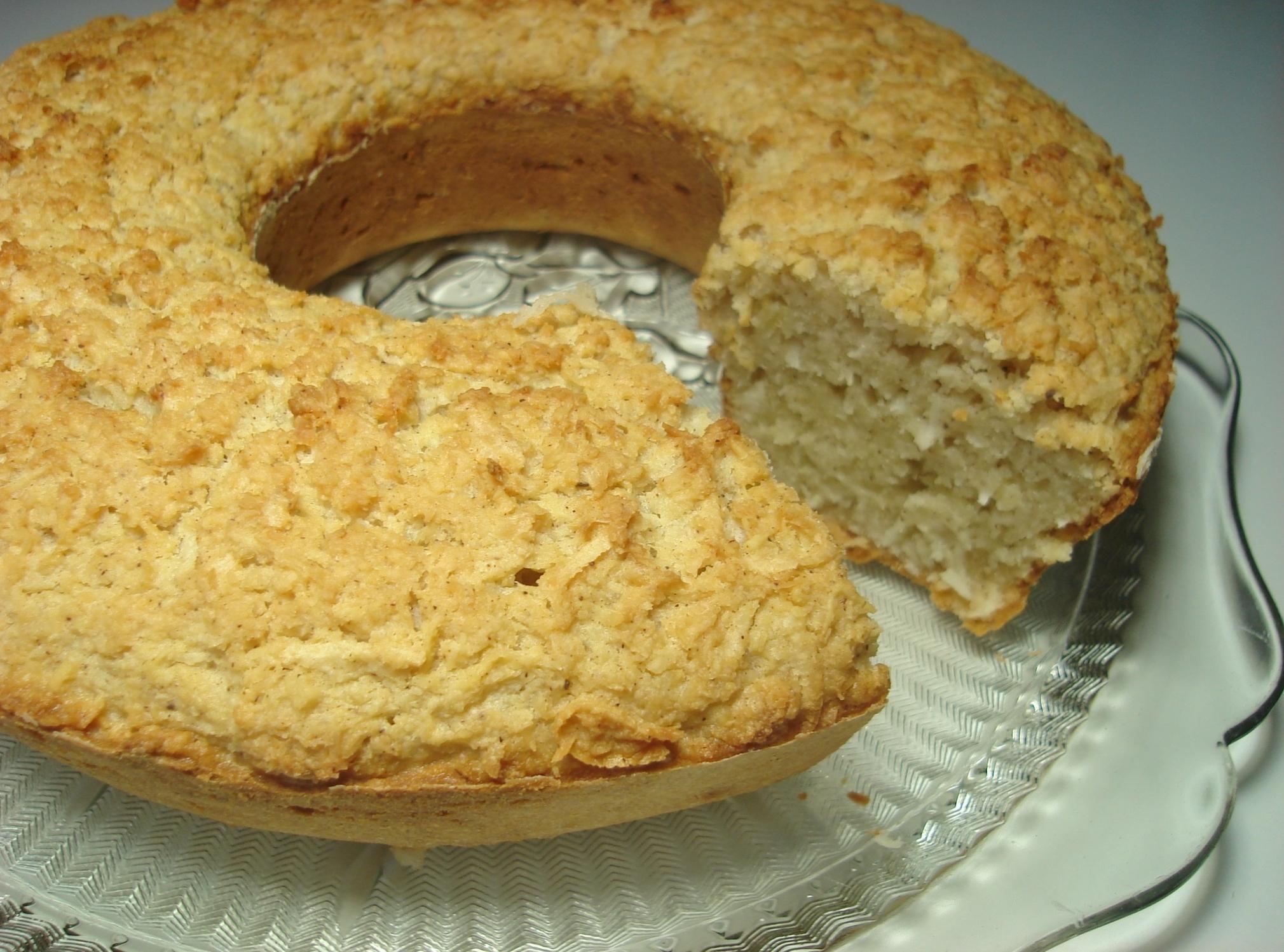 bolo de mandioca com adoçante