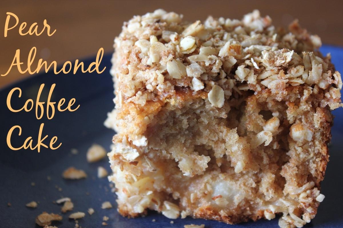 Pear Almond Coffee Cake