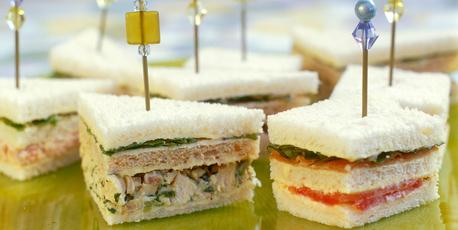 Chicken and rocket club sandwiches