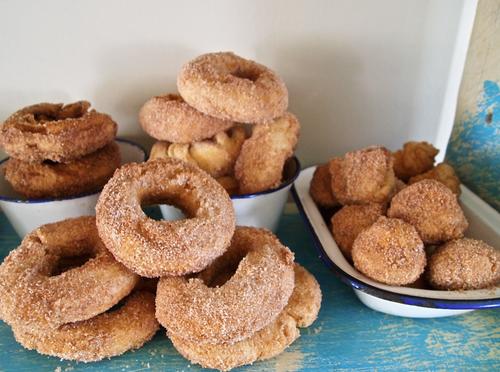 Cinnamon Sugar Doughnuts. Gluten free