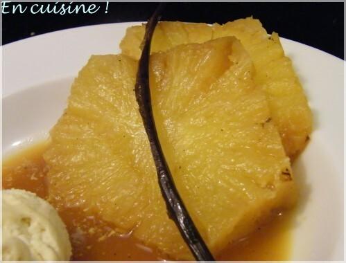 Ananas braisé à la vanille