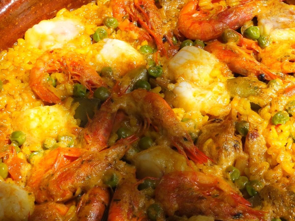 Cassola d'arròs amb rap/Cazuela de arroz con rape