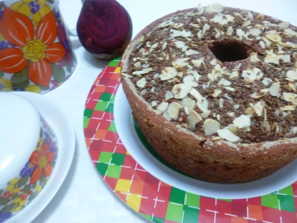 bolo de chocolate com beterraba de liquidificador