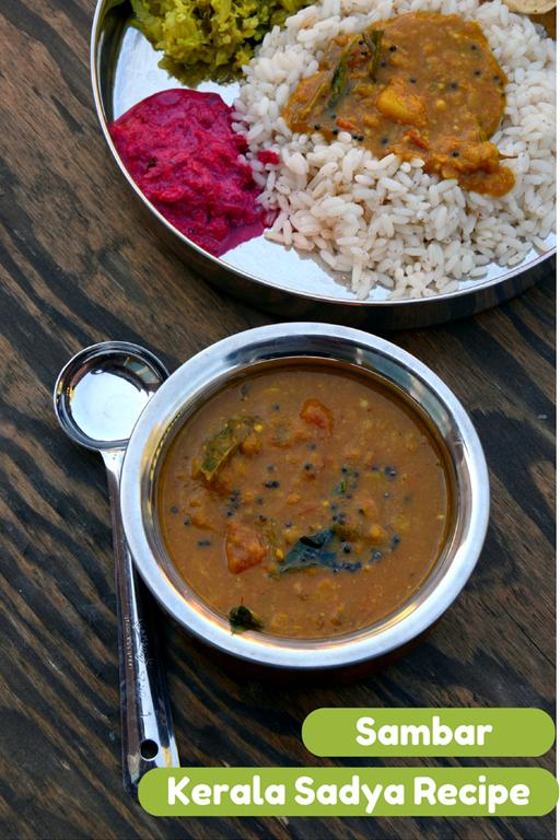 Varutharacha Sambar ~ Mixed Vegetables and Lentils in a Spiced Tamarind Sauce   Kerala Sadya Recipes