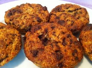 Muffini od banane, čokolade i kokosa