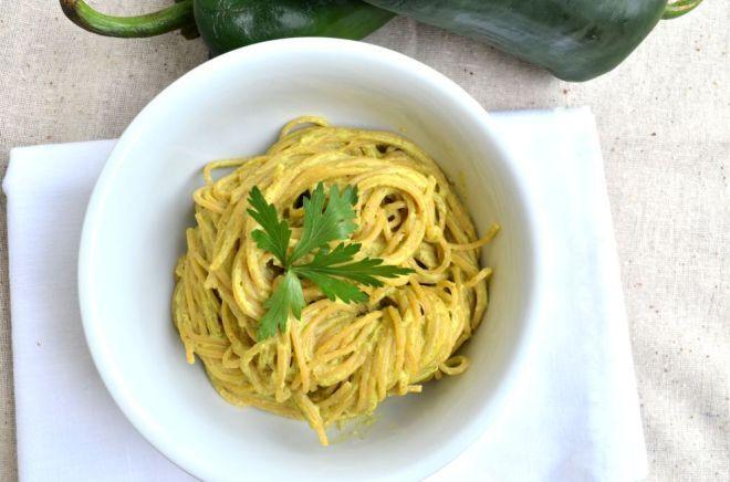 Espagueti Verde (sin lácteos)