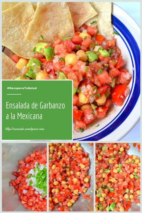 Ensalada de Garbanzo a la Mexicana