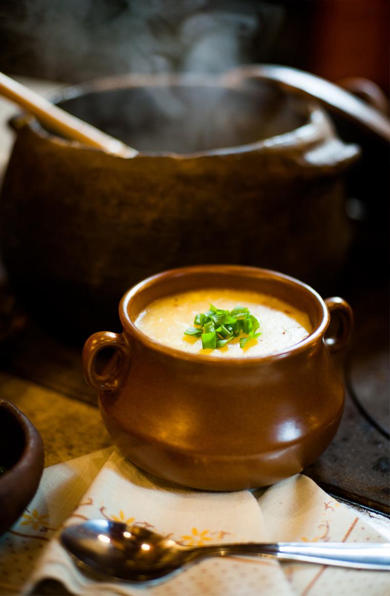 caldo de mandioca com carne seca – o chef e a chata