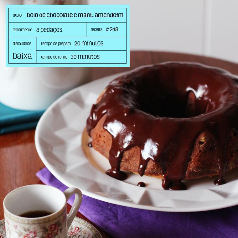 bolo de chocolate e manteiga de amendoim
