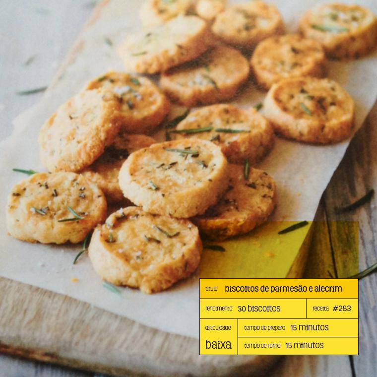 biscoitos salgados de parmesão e alecrim