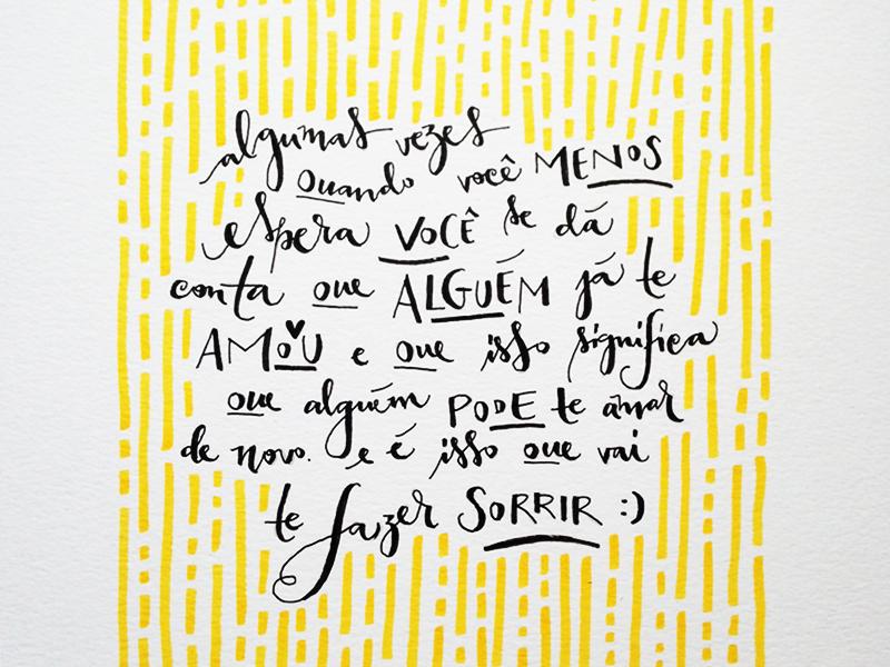carta amarela #108 – alguns amores esperam a sua hora