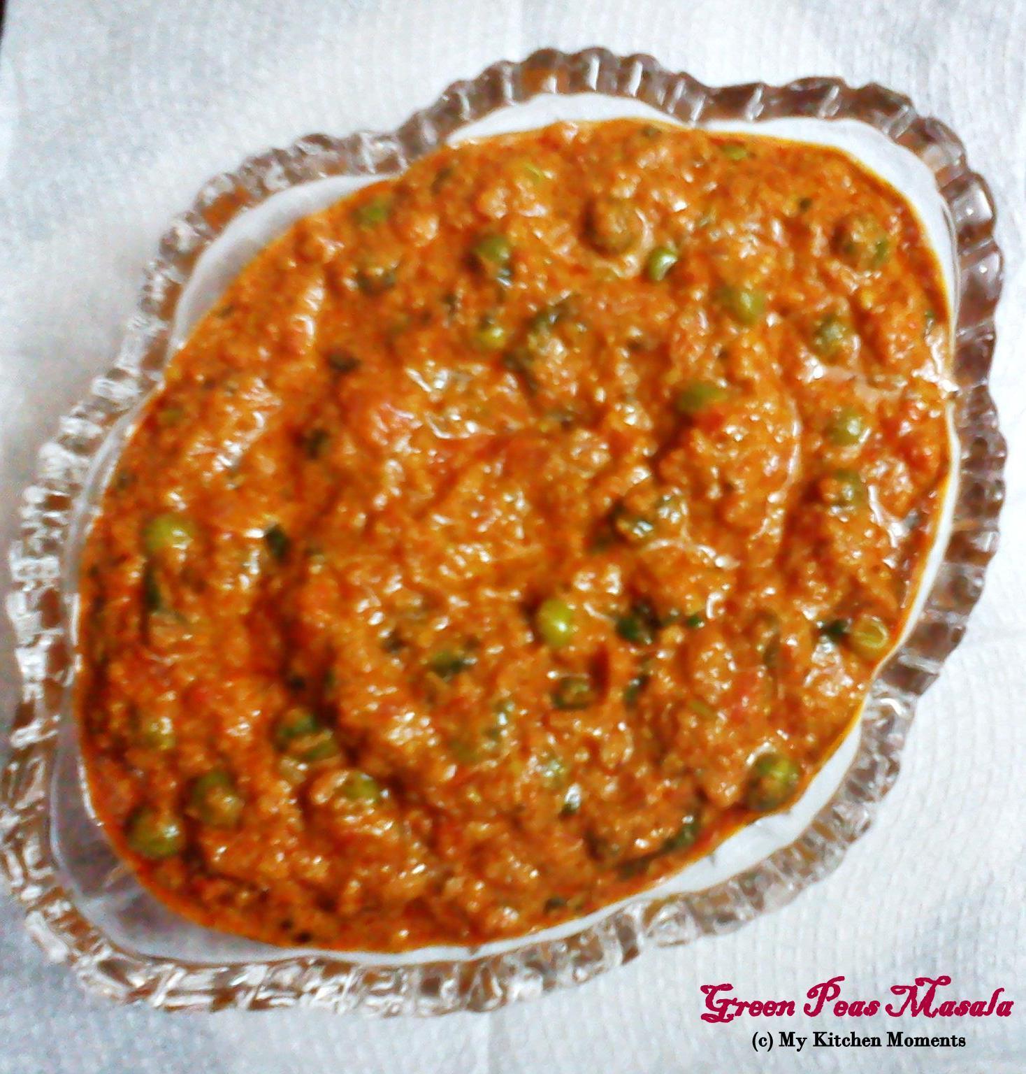Green Peas Masala – Restaurant Style Peas Masala